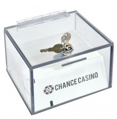 Clear Polycarbonate Slot Ticket Paper Box
