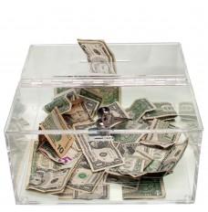 Clear Countertop Tip Box - 12W x 6H x 12D