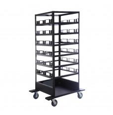 Horizontal Post Storage Cart - 18 Post Capacity