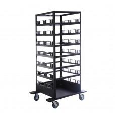 Horizontal Post Storage Cart - 21 post capacitiy