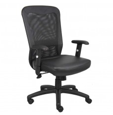 Mesh-Back, Leather Seat Task Chair