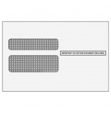 Double Window Envelope for W-2 Form - Self Seal - 2-Up