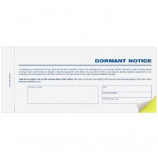 Dormant Notice - 2 Part Form