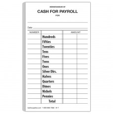 Cash for Payroll Form