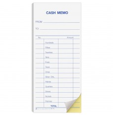 2 Part Snap Cash Memo