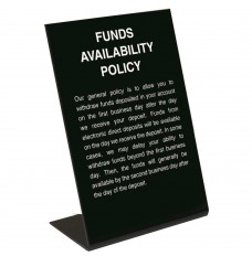 Electronic Funds Availability Policy Sign (2nd Bus. Day)