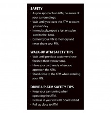 ATM Safety Tips Sign - 3-1/2W x 5-3/4H
