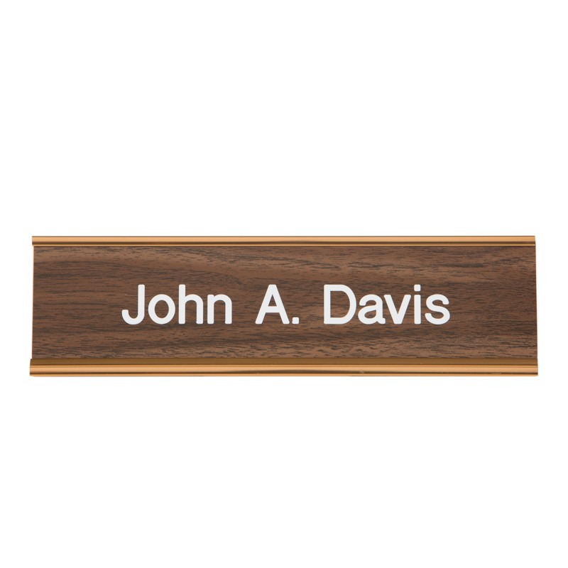 Wall Nameplate With Frame - 10W x 2H - 1 Line