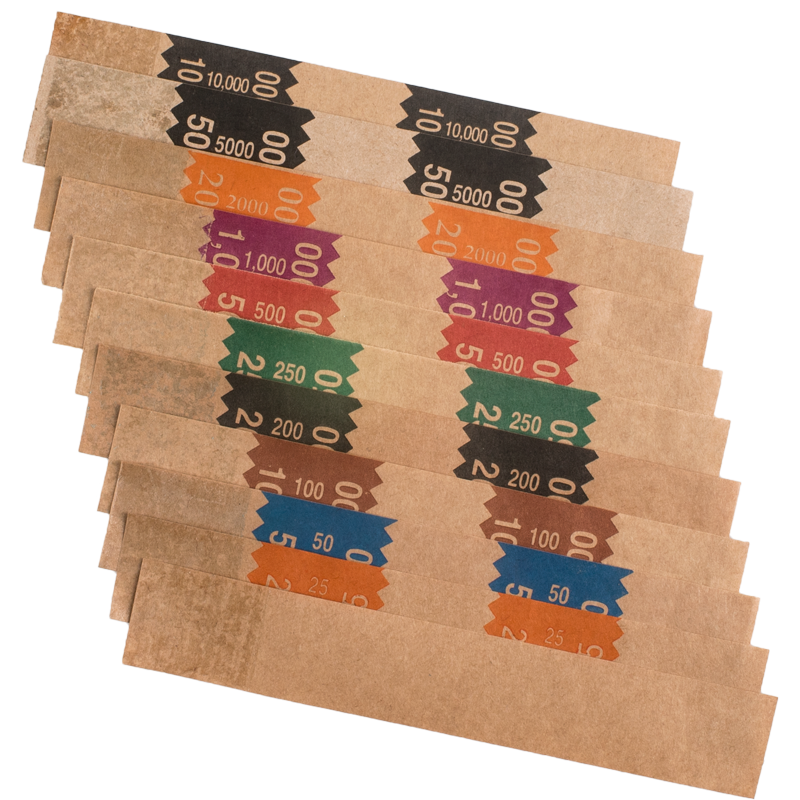 Brown Kraft Self-Sealing Bill Straps