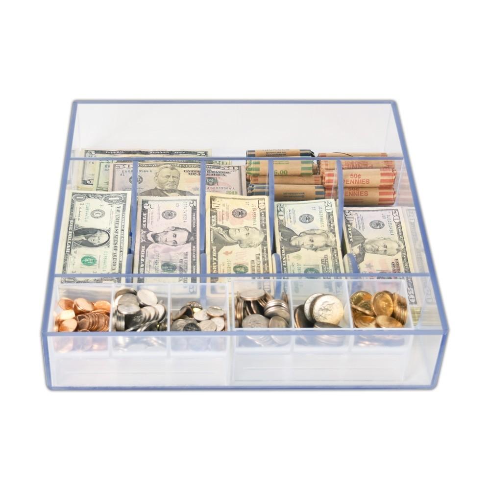 Clear Money Tray - 14-5/8W x 3H x 15D