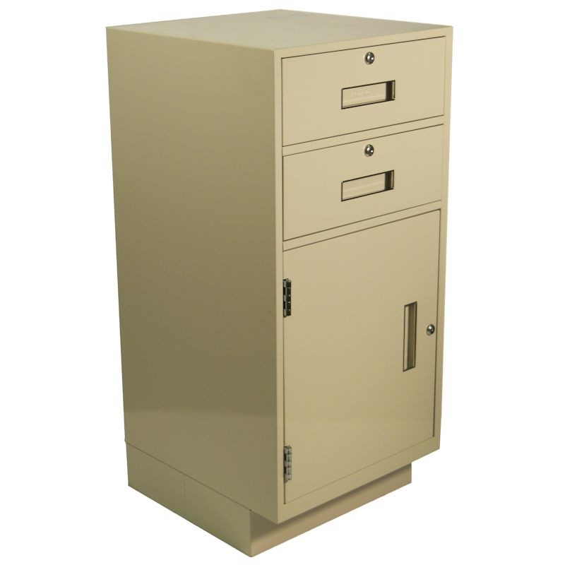 Fenco Silverline Teller Pedestal, (2) Drawers and (1) Door