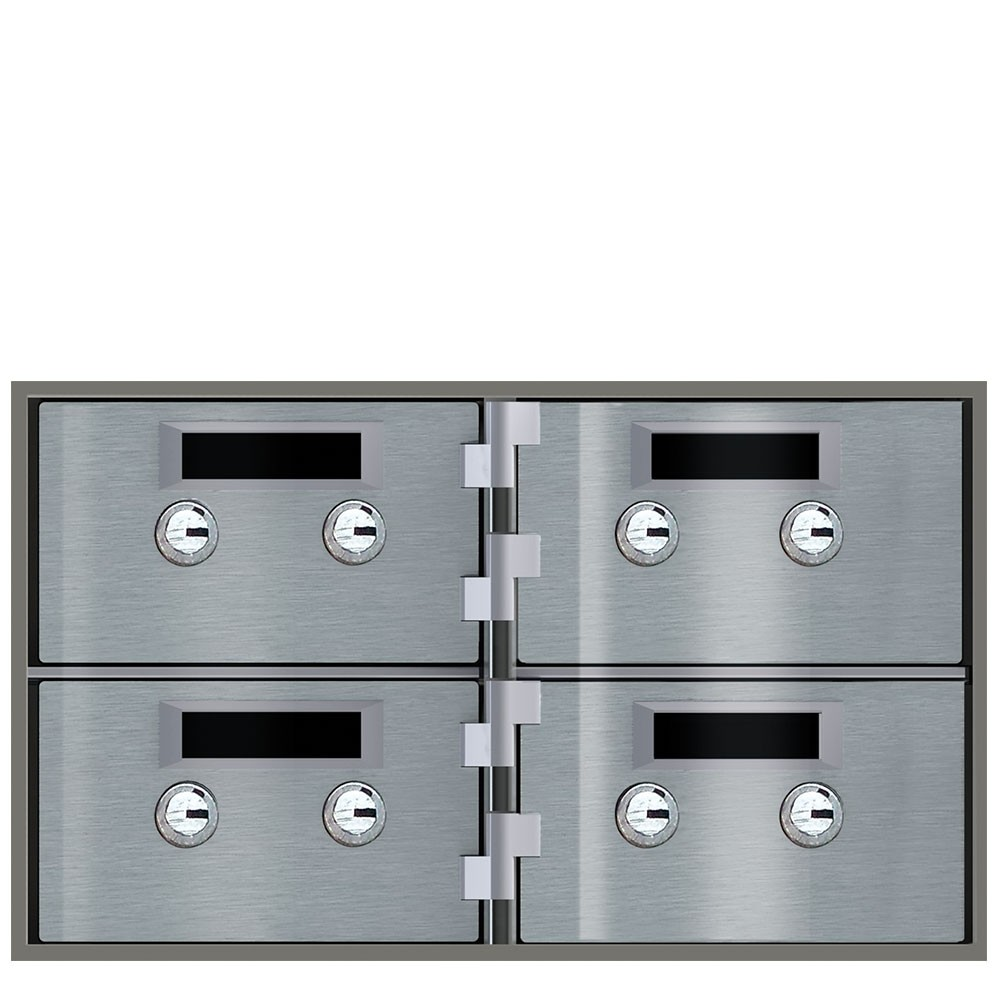 Safe Deposit Boxes - 4 Boxes - Door Size: 5 in W x 3 in H