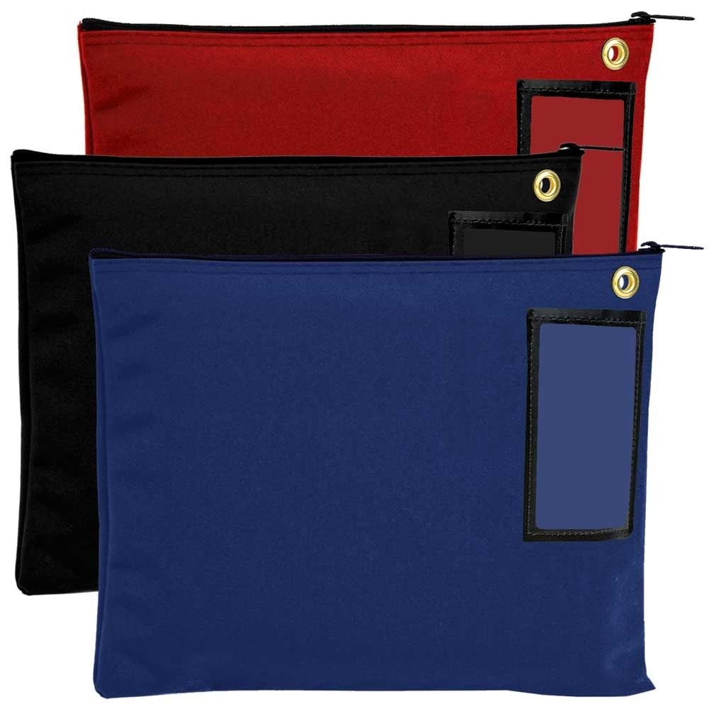 12W x 9H Canvas Large Zipper Bags - Ready to Ship