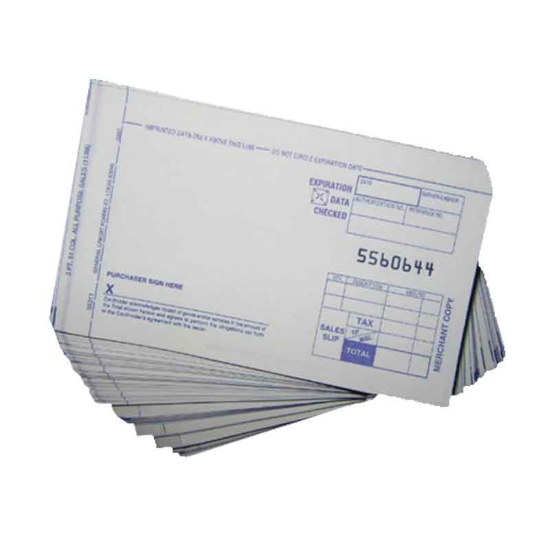 2-part Short Form Charge Slips - Case of 5000