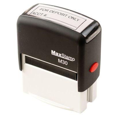 Self-Inking Stamp, 1 color ink - FOR DEPOSIT ONLY