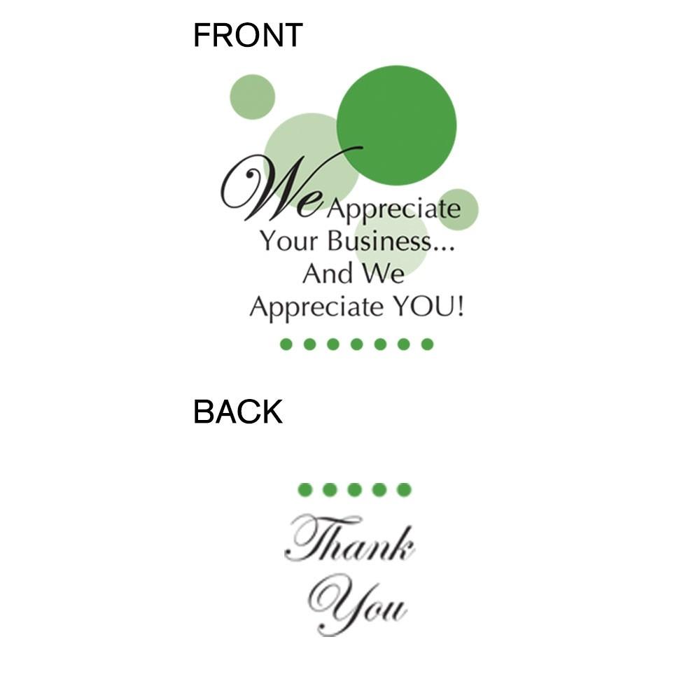 Pre-Designed Drive Up Envelope - We Appreciate Your Business