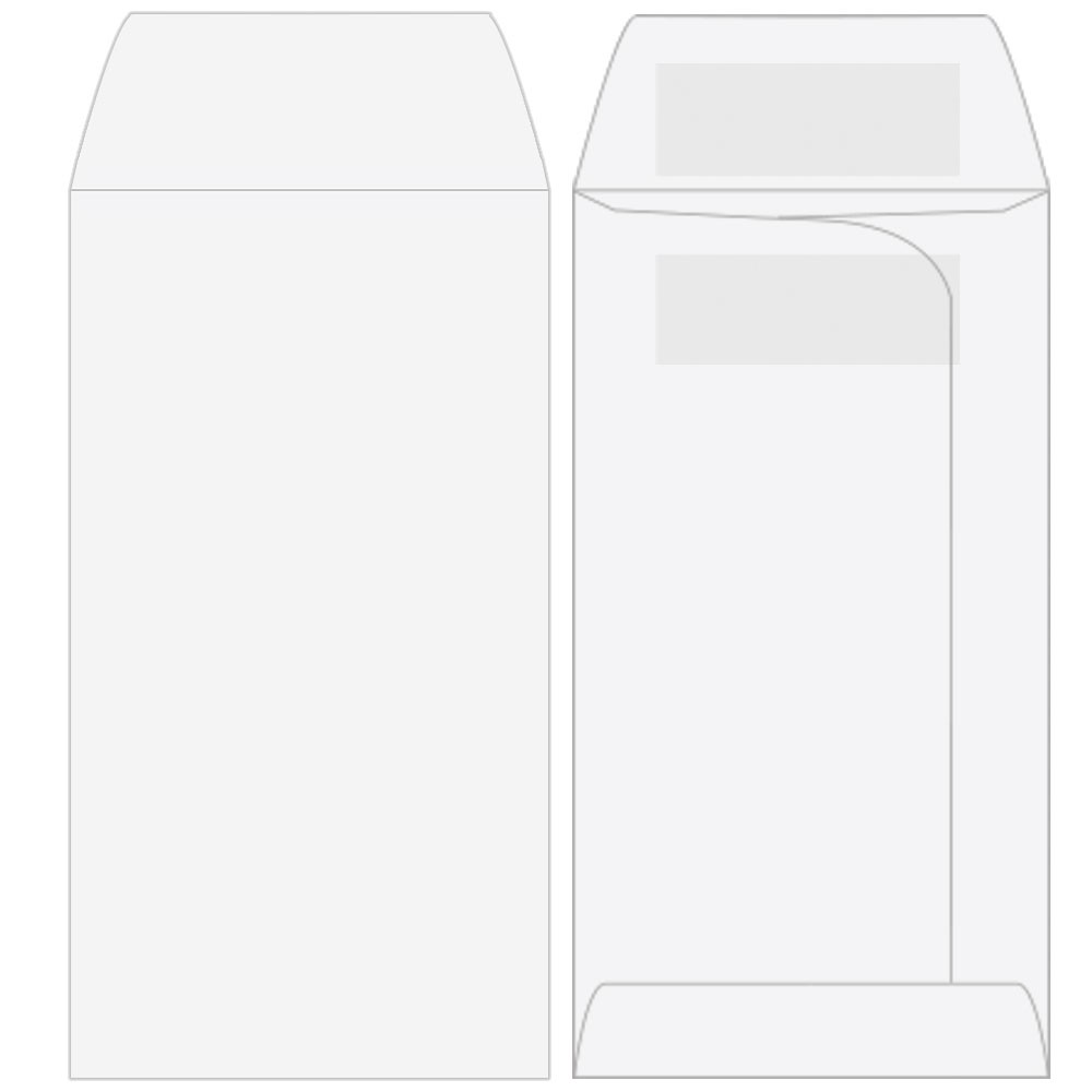 Drive-Up Envelopes - Blank Open End - 3-3/4in x 7in