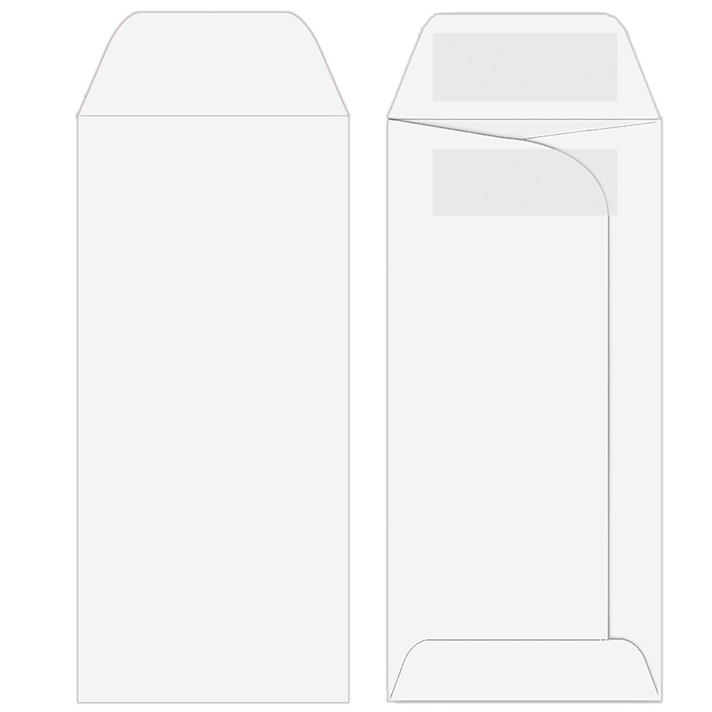 Drive-Up Envelopes - Blank Open End - 3-1/4in x 7in