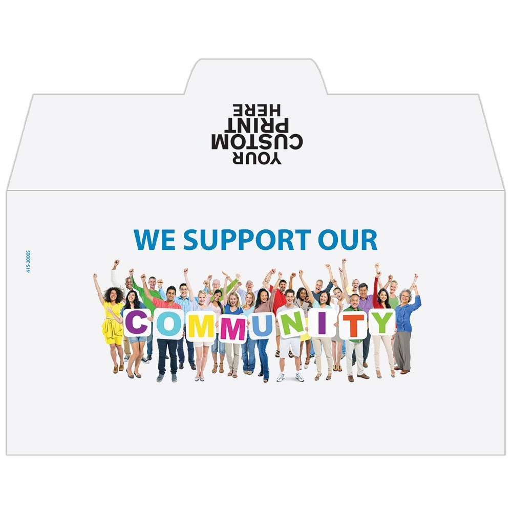 Ready-to-Ship Drive Up Envelopes - Community Support - w / 1 Color Custom Print