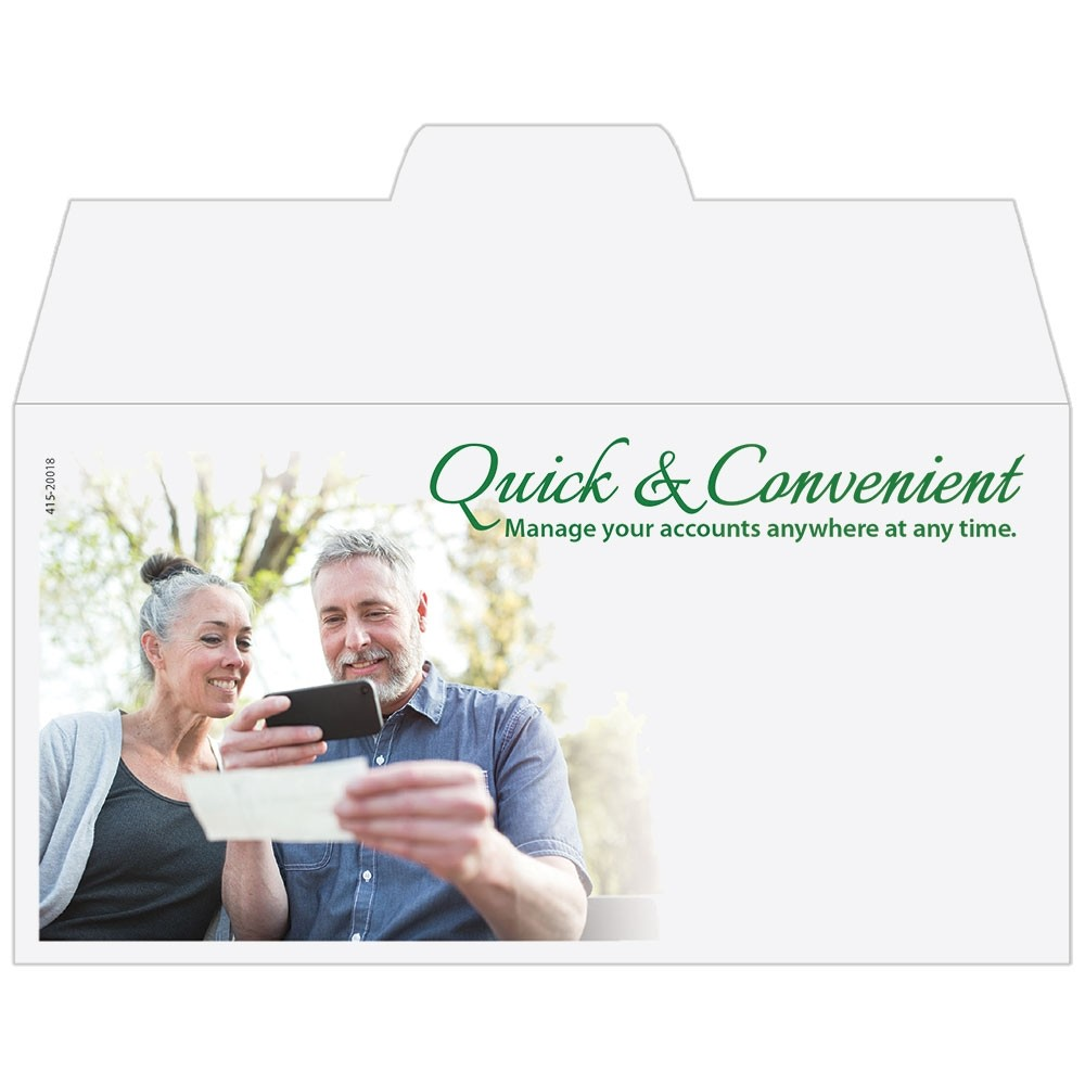 Ready-to-Ship Drive Up Envelopes - Quick & Convenient - Mobile Banking