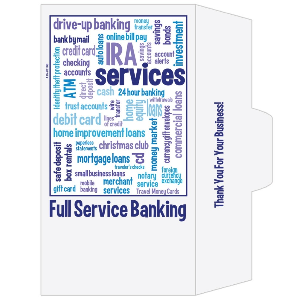 Ready-to-Ship Drive Up Envelopes - Full Service Banking