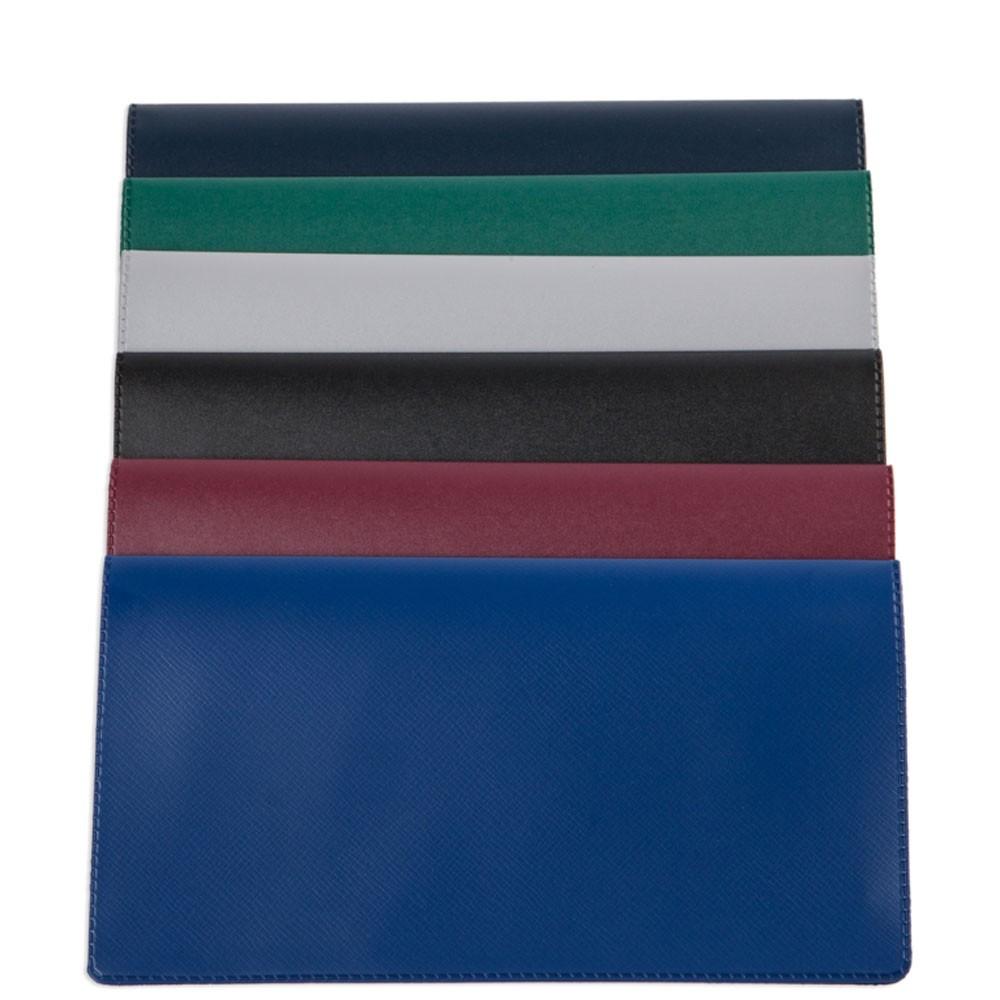Standard Checkbook Cover, 6-1/4in x 3-3/8in closed - NO Imprint