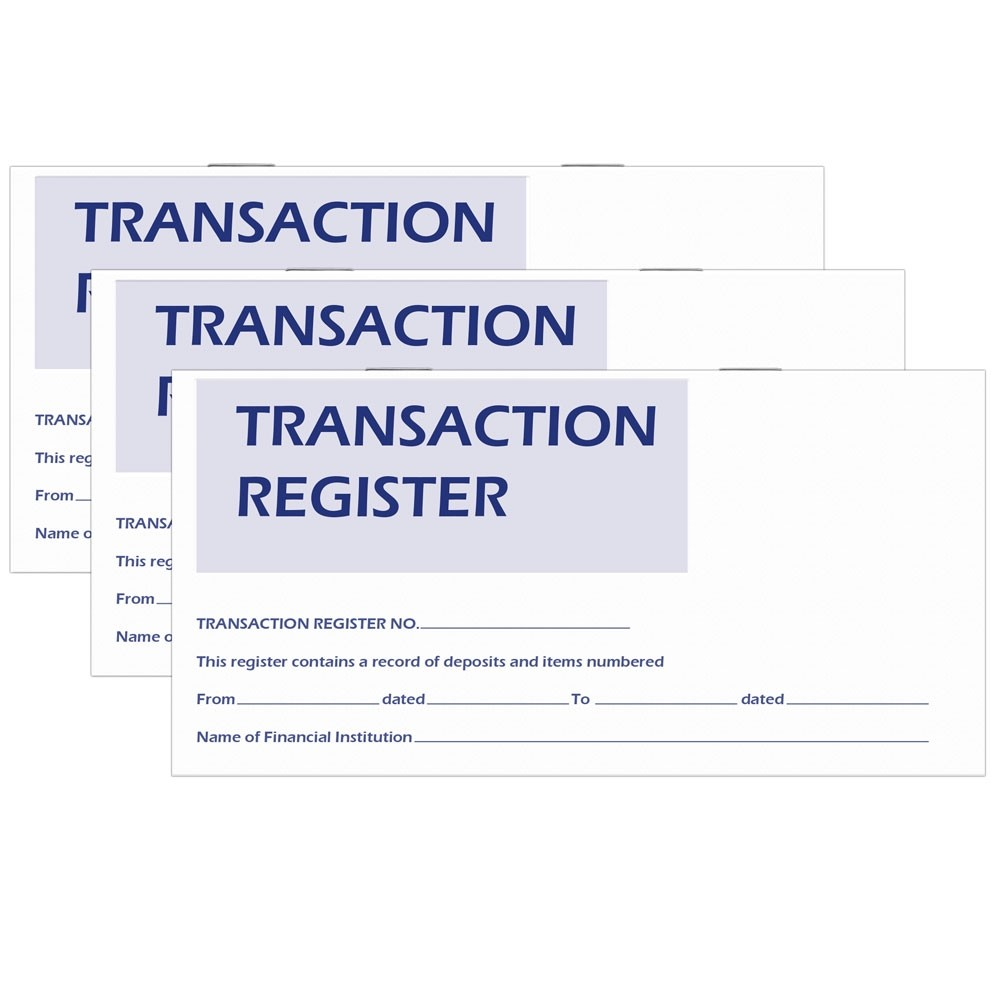 Check Register Stock 6 W x 3 H, 30 pages 25 / Pack
