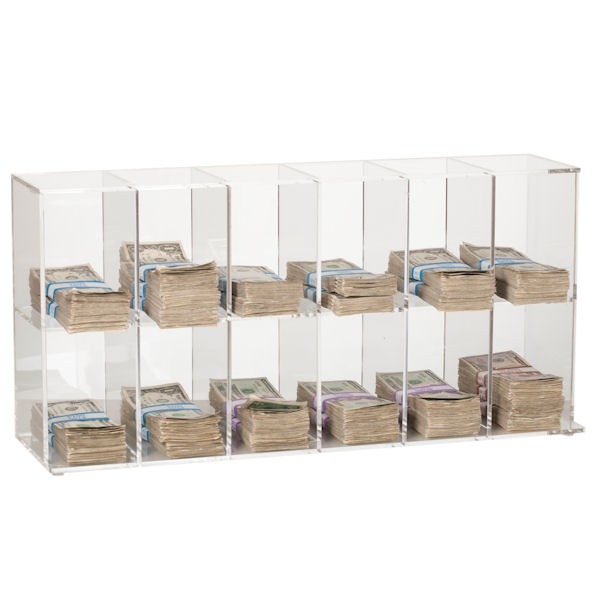 Clear Currency Sorter - 12 Pockets