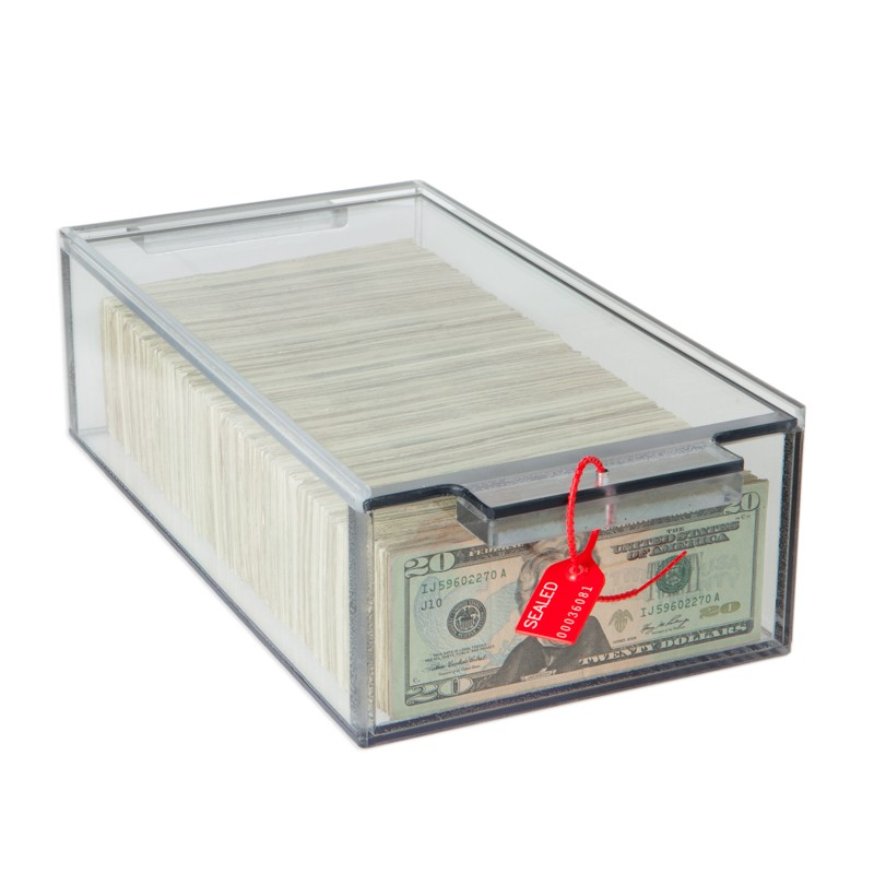 Clear Locking Currency Tray, 2000 Note, 7-3/4W x 3-3/4H x 13L