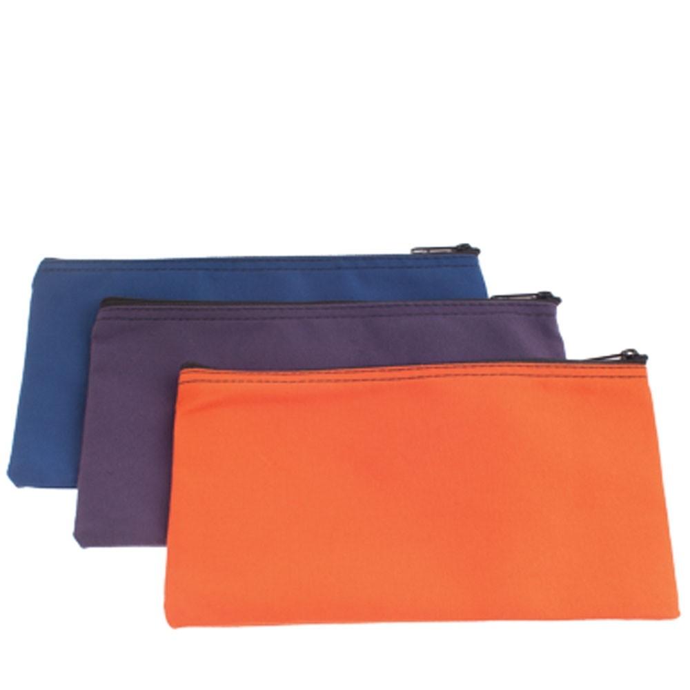 10-1/2W x 5-1/2H Canvas Zipper Bags - Ready to Ship