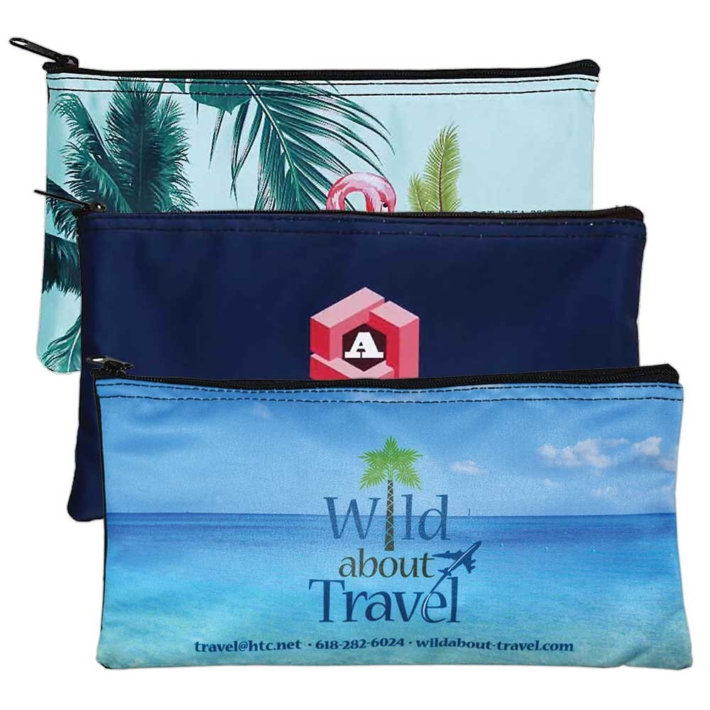Full Color 10-1/2 W x 5-1/2 H Zipper Bag - Lot of 150 Made to Order