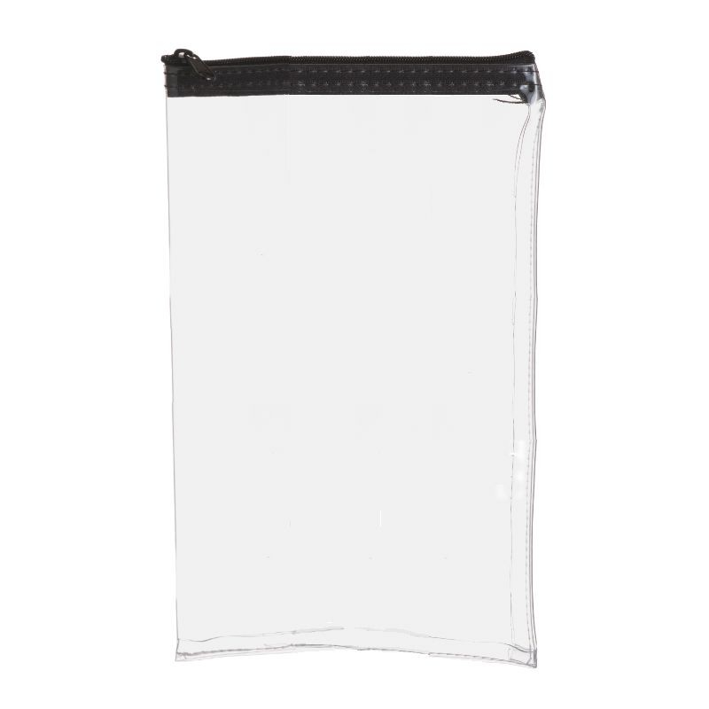 7W x 11H Clear Vinyl Vertical Zipper Bag - Made to Order