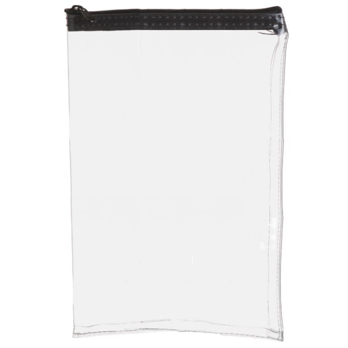 6-1/2W x 10H Clear Vinyl Vertical Zipper Bag - Made to Order