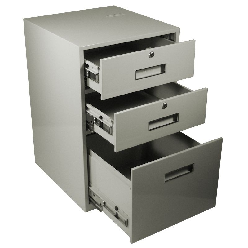 Fenco Lowboy Pedestal, (2) Drawers, (1) Legal Drawer