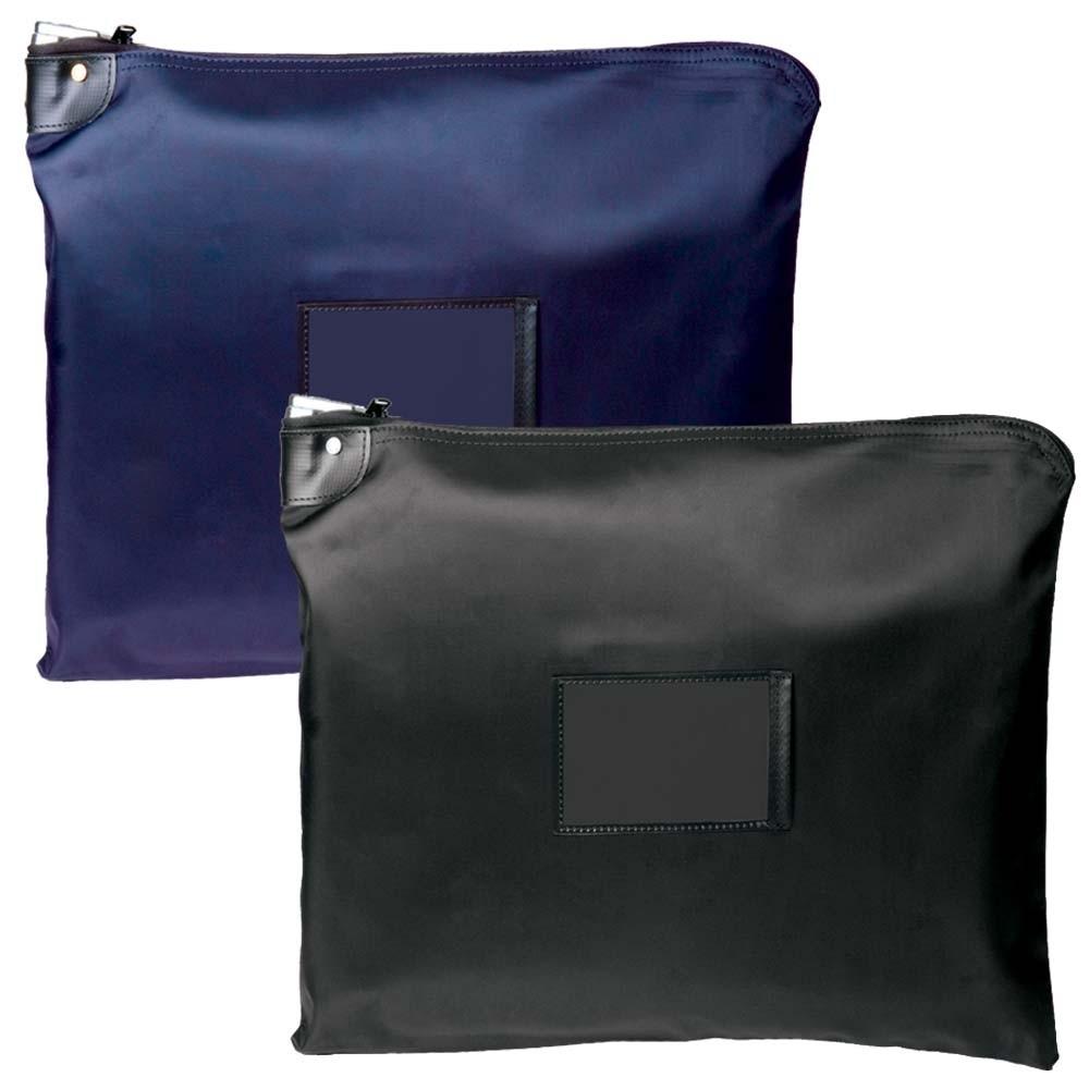 19 W x 15 H HIPAA Laminated Nylon Locking Deposit Bags - Ready to Ship