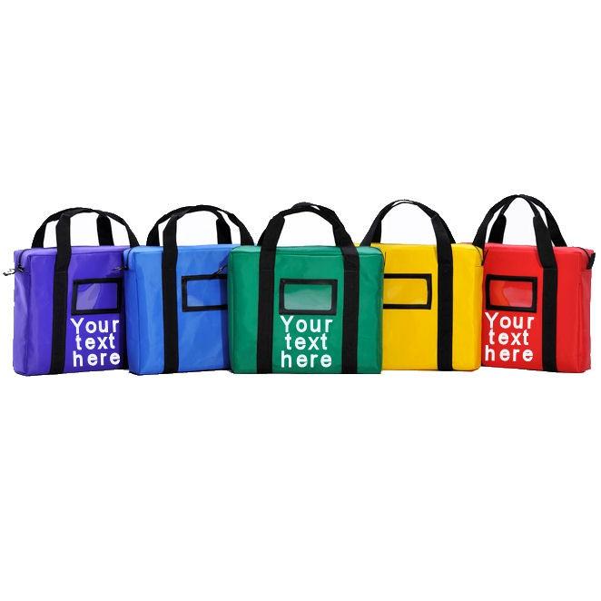 Imprint Briefcase Style Courier Bag-14Wx11Hx3D-Lam. Nylon