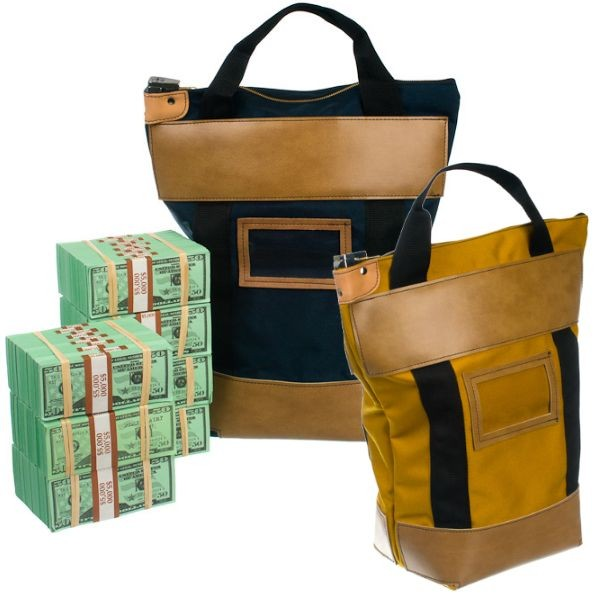 9W x 16H x 7D (16W at top) Courier Bags - Stock