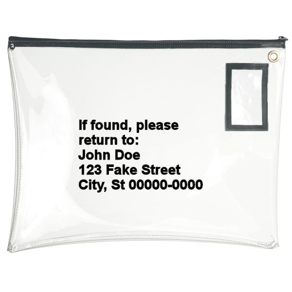 22W x 16H Clear Vinyl Large Zipper Bags - Made to Order