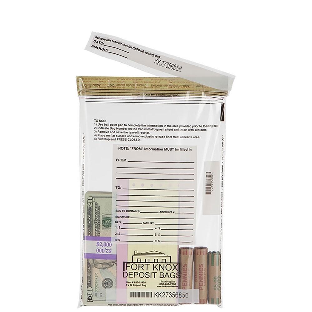 9W x 12H Clear Deposit Bags