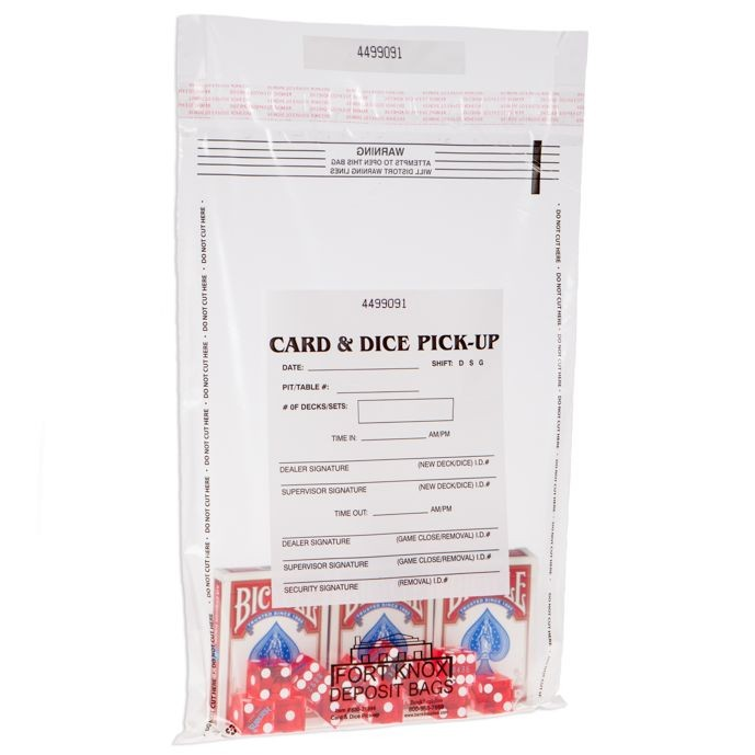 10W x 14H Card and Dice Pick-Up Bags - Case of 500