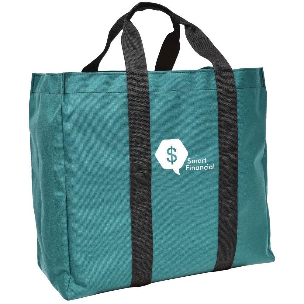 17W x 16H x 8D Tough Tote Plus w/ Custom Print and Pocket