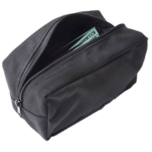 8W x 4-1/4H x 4D Standard Belt Bag w/Zippered Pocket - Stock