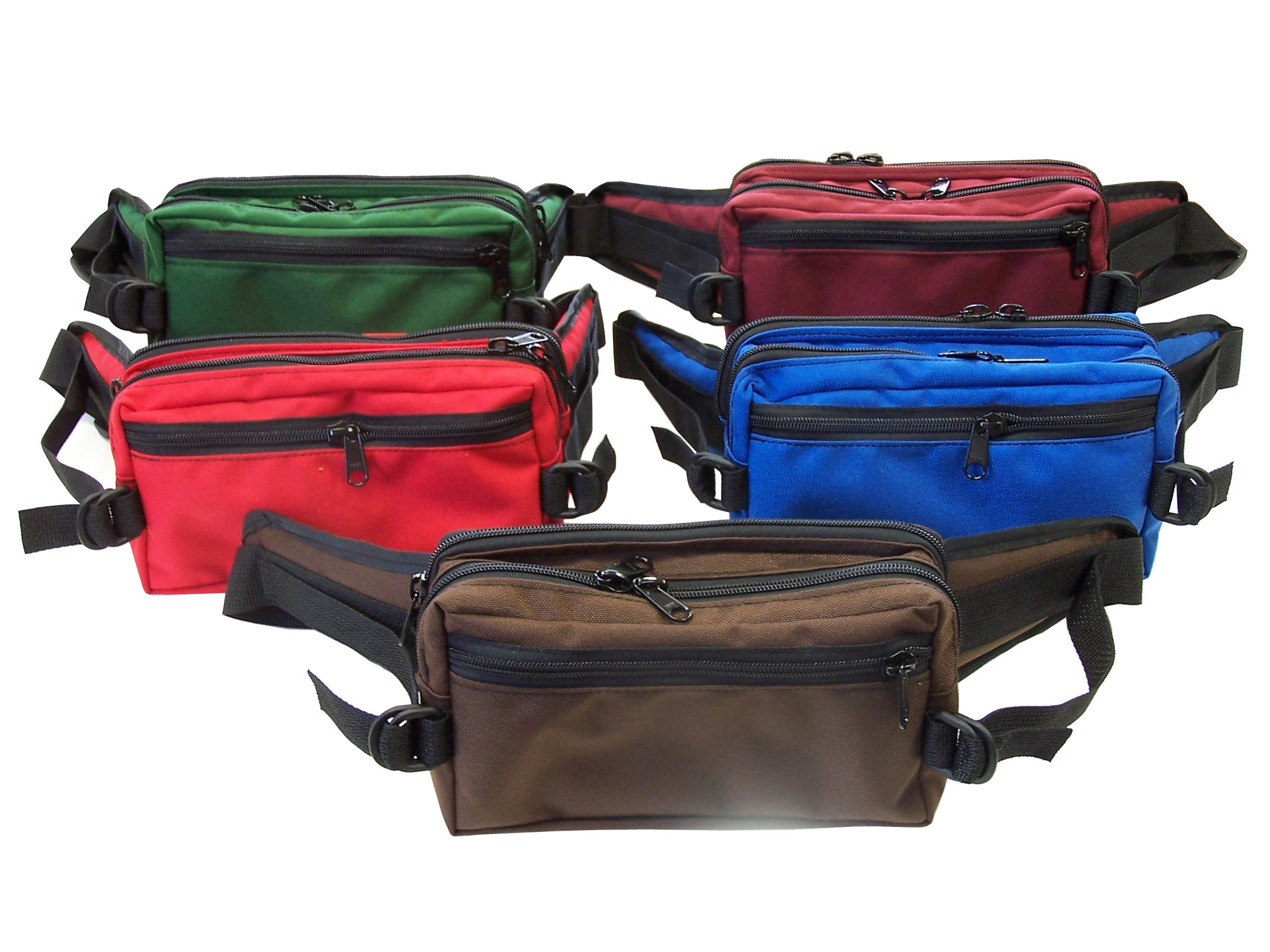9W x 5H x 4D Large Belt Bag w/2 Zippered Pockets - Made to Order