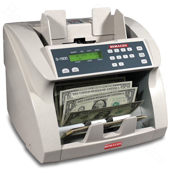 Semacon S-1600 Series and S-1600V Value Series Currency Counters