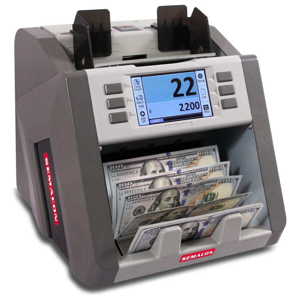 Semacon S-2200 Bank Grade Single Pocket Currency Discriminator - 2nd Gen Technology