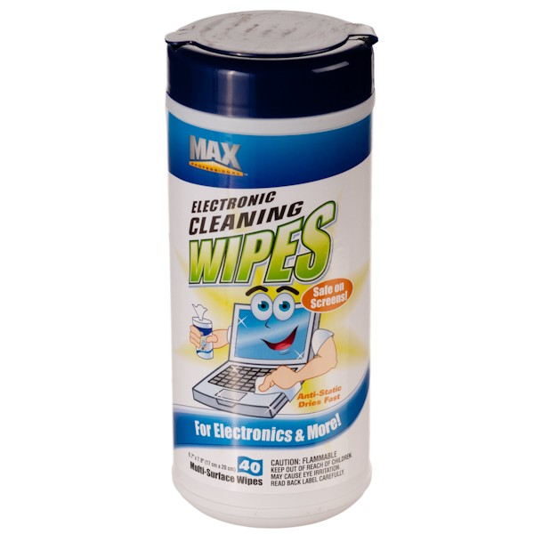 Electronic Wipes for safely cleaning equipment