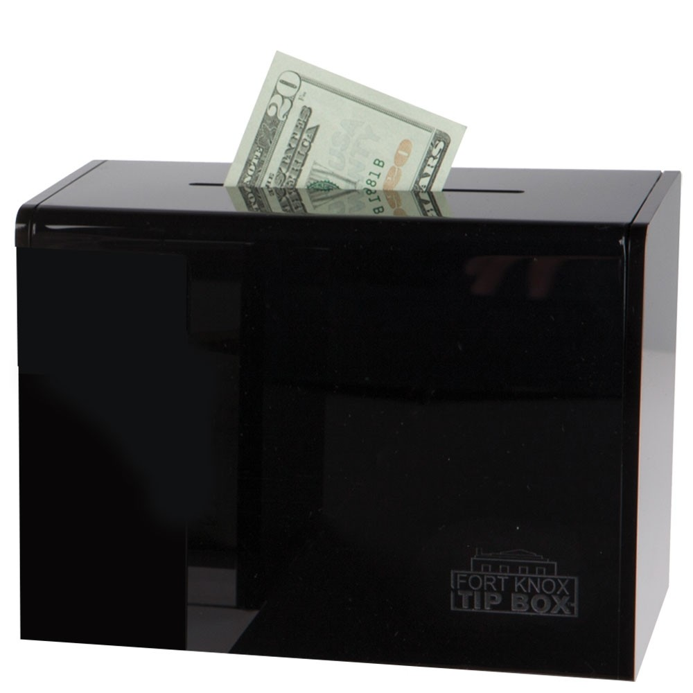 Black Countertop Tip Box - 7-3/4W x 5-5/8H x 4-1/4D