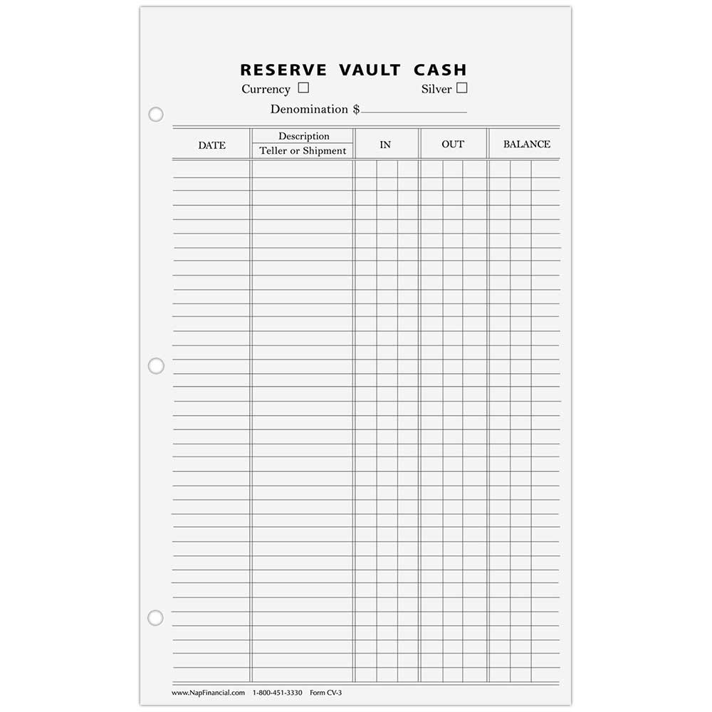 Reserve Vault Cash 5x8