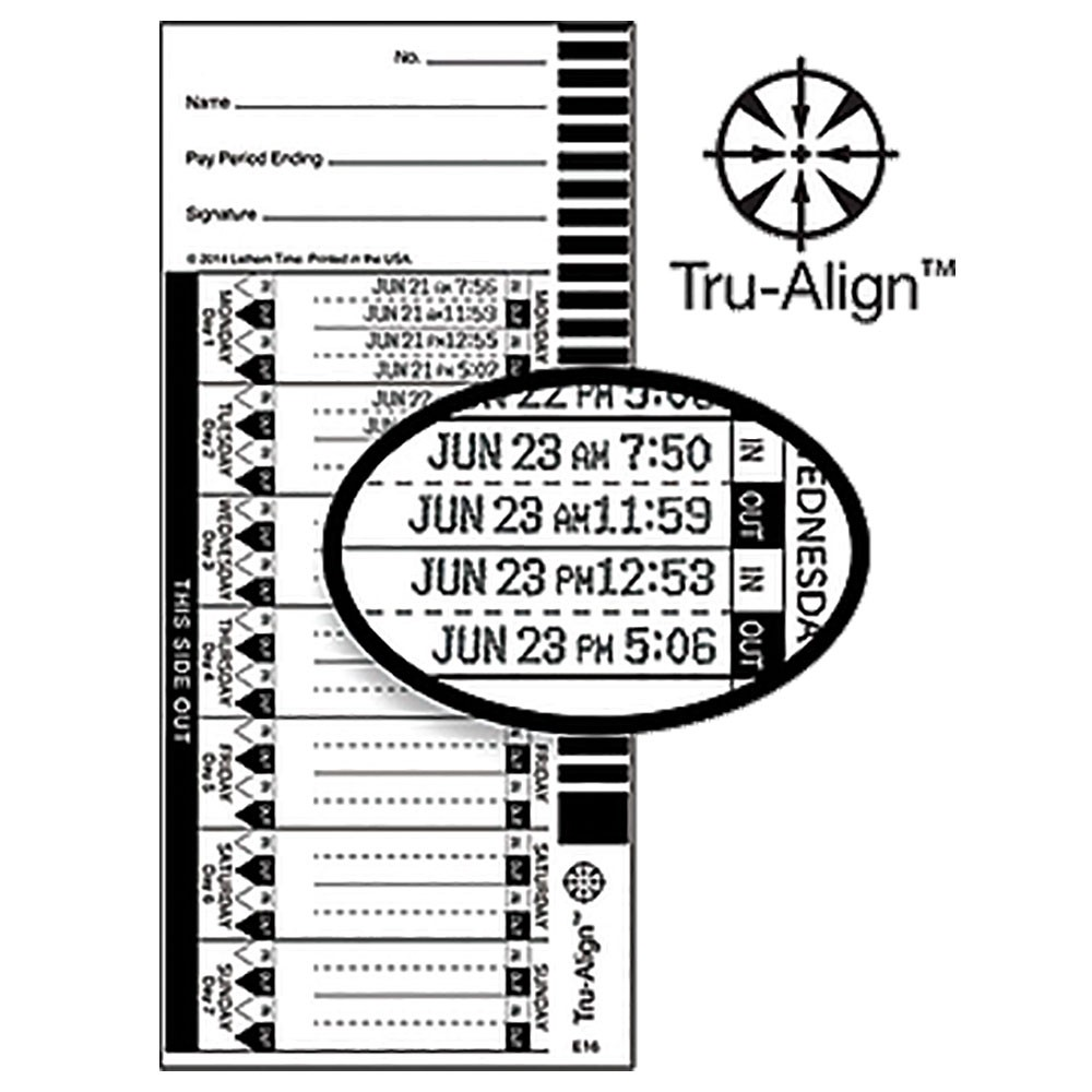 E16-100 Time Cards - Pack of 100