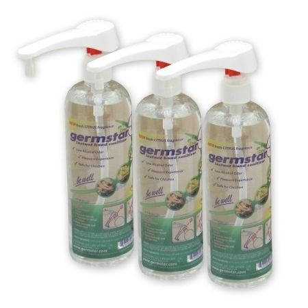 Germstar 16oz Pump Bottle - 3/Case